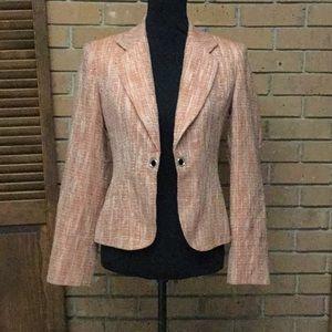 Coral Colored Spring Time Tweed Jacket